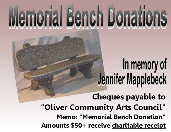 Memorial Bench Donations 2