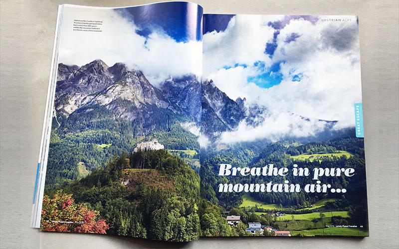 austria clouds mountains werfen