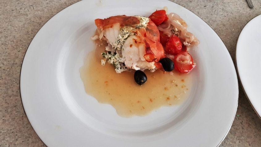 Roast Stuffed Monkfish