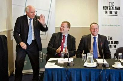 Former Australian Prime Minister Hon John Howard AC AO, Dr Oliver Marc Hartwich, New Zealand Prime Minister Rt Hon John Key (March 2013)