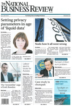 NBR Front Page 14 July 2017