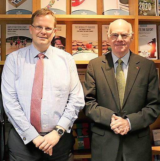 Dr Oliver Hartwich and former President of the German Bundestag Professor Dr Nobert Lammert (November 2017)