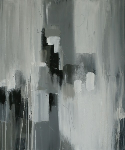 Painting with Grey to create Abstract Art