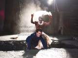 Cymbeline by William Shakespeare. A Royal Shakespeare Company Production directed by Melly Still. With Hiran Abeysekera as Posthumus [ mask], Oliver Johnstone as Iachimo. Opens at The Royal Shakespeare Theatre, Stratford Upon Avon on 10/5/16. CREDIT Geraint Lewis