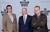 ANU Europe expert Dr Ben Wellings, British Conservative Dan Hannan MEP, Dr Oliver Marc Hartwich (May 2012)