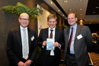 The New Zealand Initiative chairman Roger Partridge, New Zealand Deputy Prime Minister Hon Bill English, Dr Oliver Marc Hartwich (March 2015)