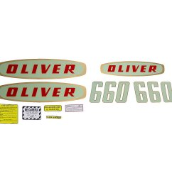 mylar decal set for oliver 660 gas early model tractors  [ 1200 x 1200 Pixel ]