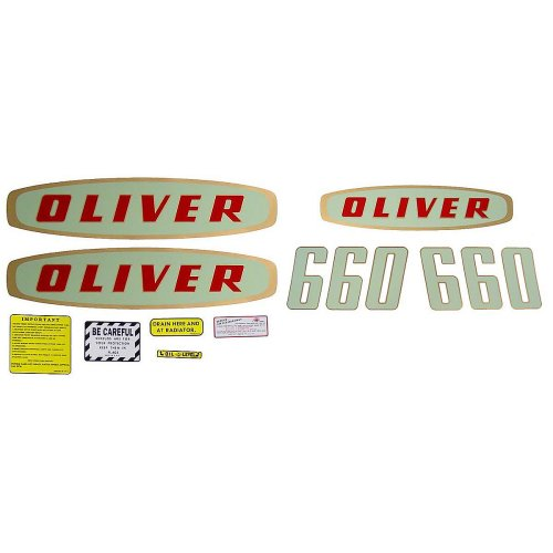small resolution of mylar decal set for oliver 660 gas early model tractors