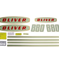 mylar decal set for oliver 880 gas tractors up to sn 112250  [ 1200 x 1200 Pixel ]