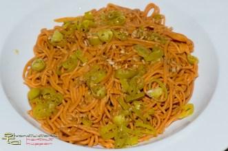 Chilli-Spaghetti aglio olio