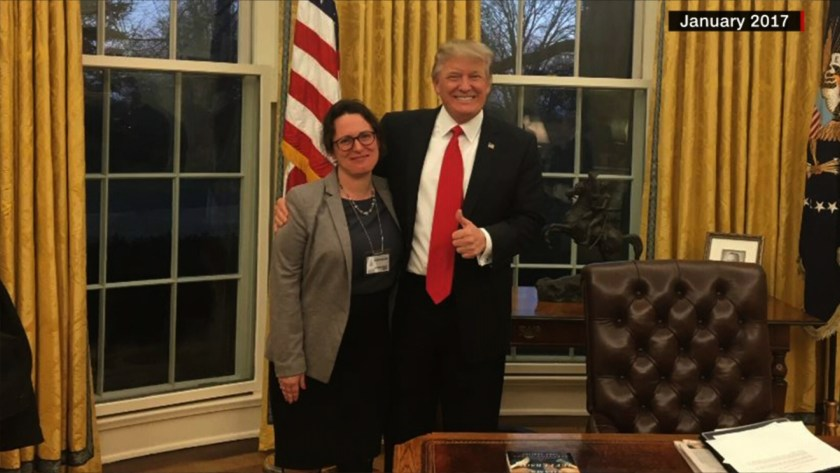 Maggie Haberman and Donald Trump