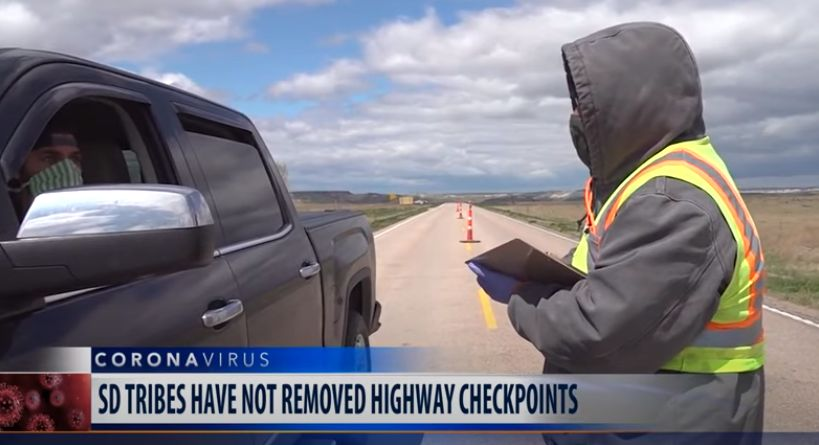 South Dakota Sioux Tribes COVID-19 Checkpoints