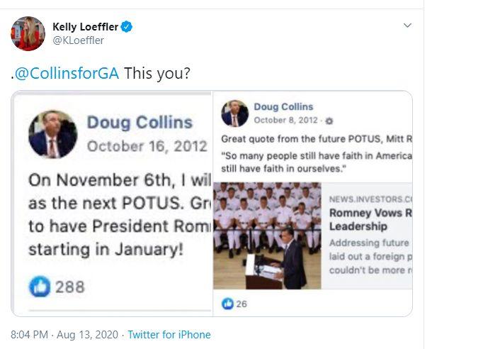 Kelly Loeffler's Anti-Romney Tweet