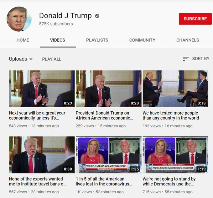 Trump's YouTube With Edited Axios Clips