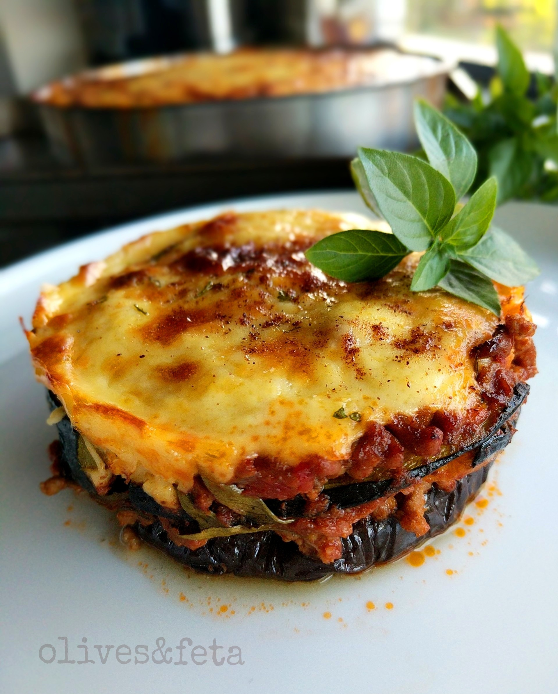 Moussaka Recipe With Aubergine Zucchini And Herbs Olivesandfeta