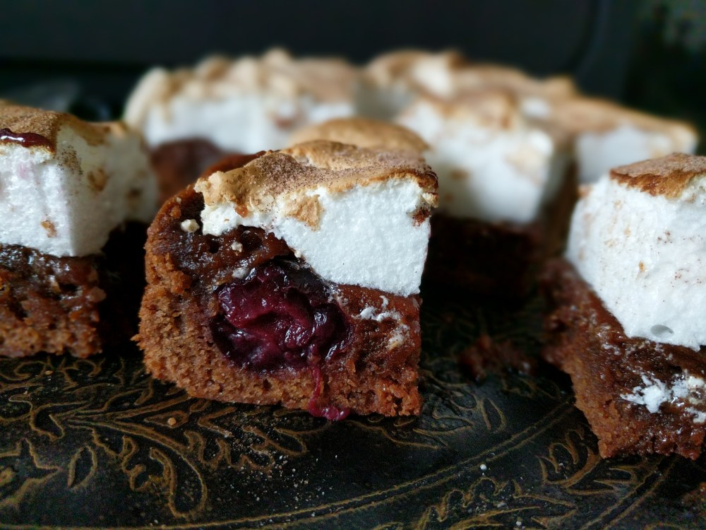 Smore's Chocolate and Cherry Brownie