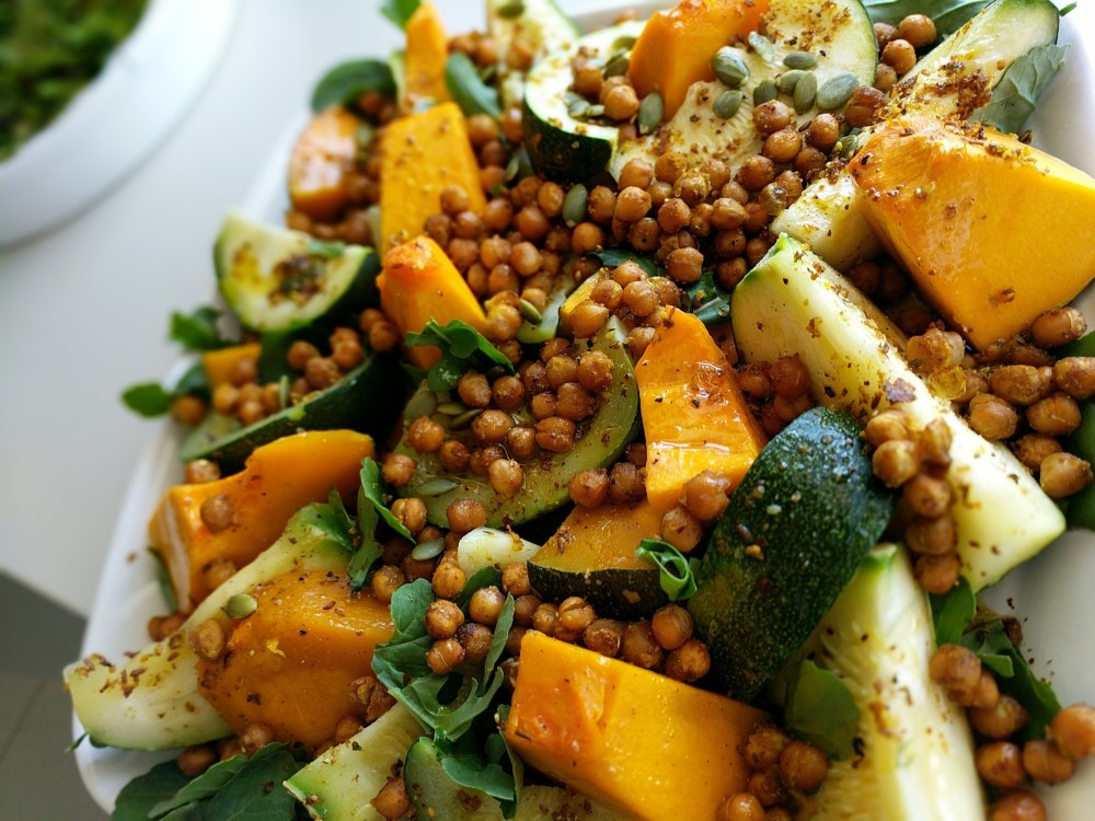Pumpkin, Zucchini and Lentil Salad