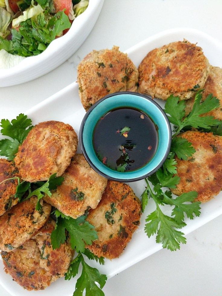 tuna and chickpea patties - vegan and without potato