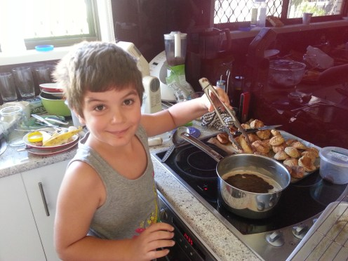 my son, inheriting the love for cooking