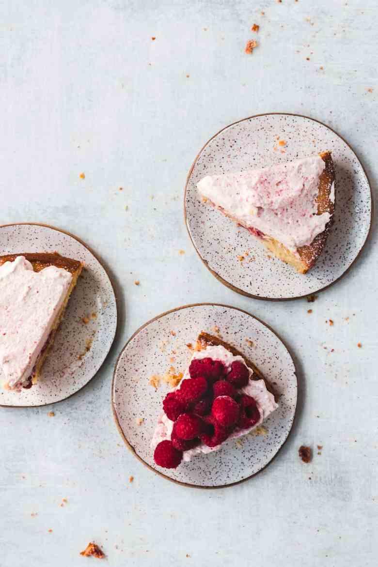 trio of sliced semolina cakes