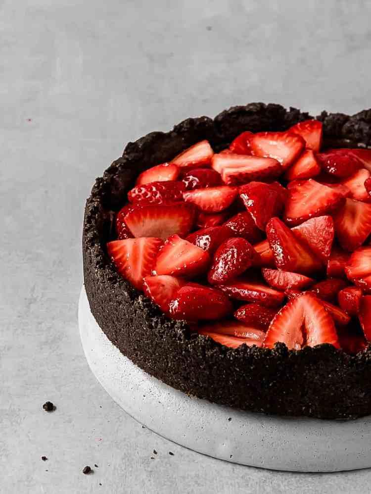 black cocoa tart