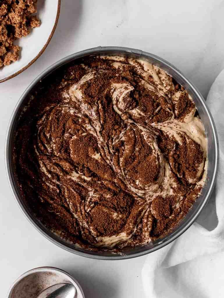 cinnamon streusel banana coffee cake