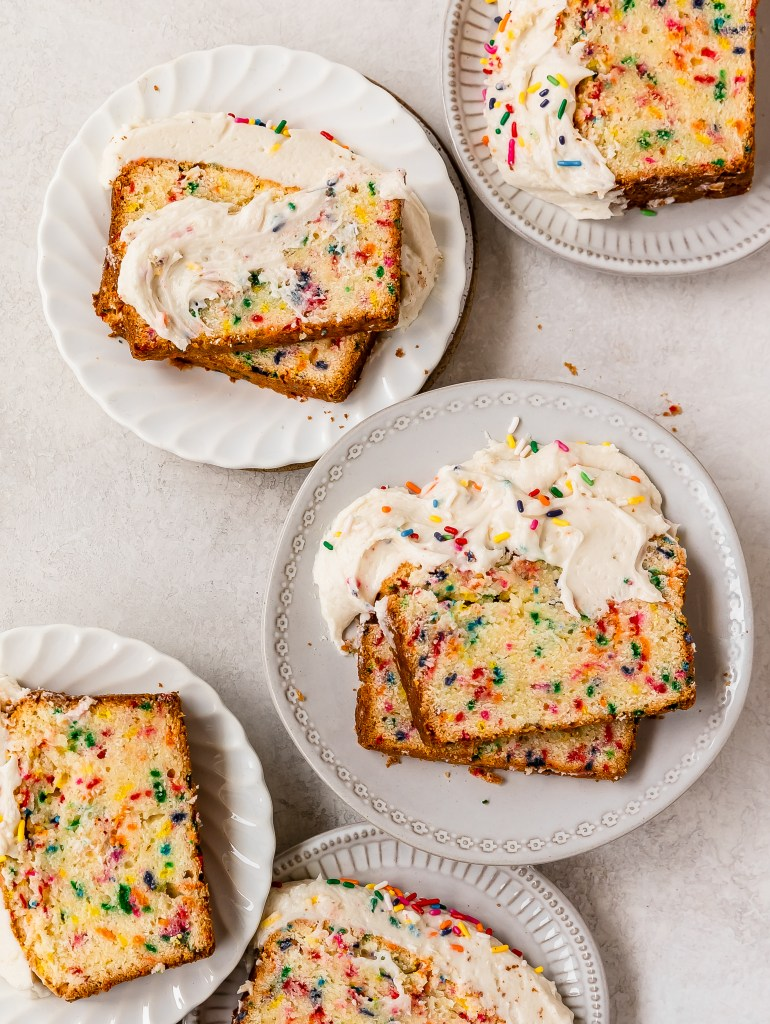 slices of cake on plates