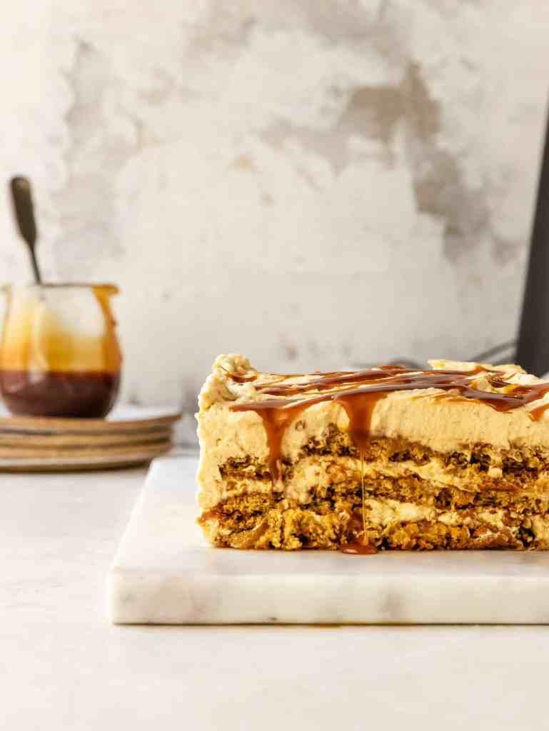 pumpkin gingersnap icebox cake
