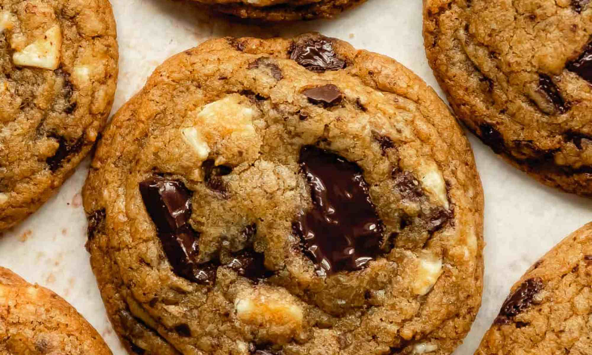 chewy triple chocolate citrus cookie