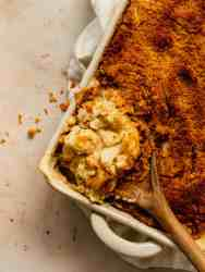 cheesy roasted cauliflower gratin