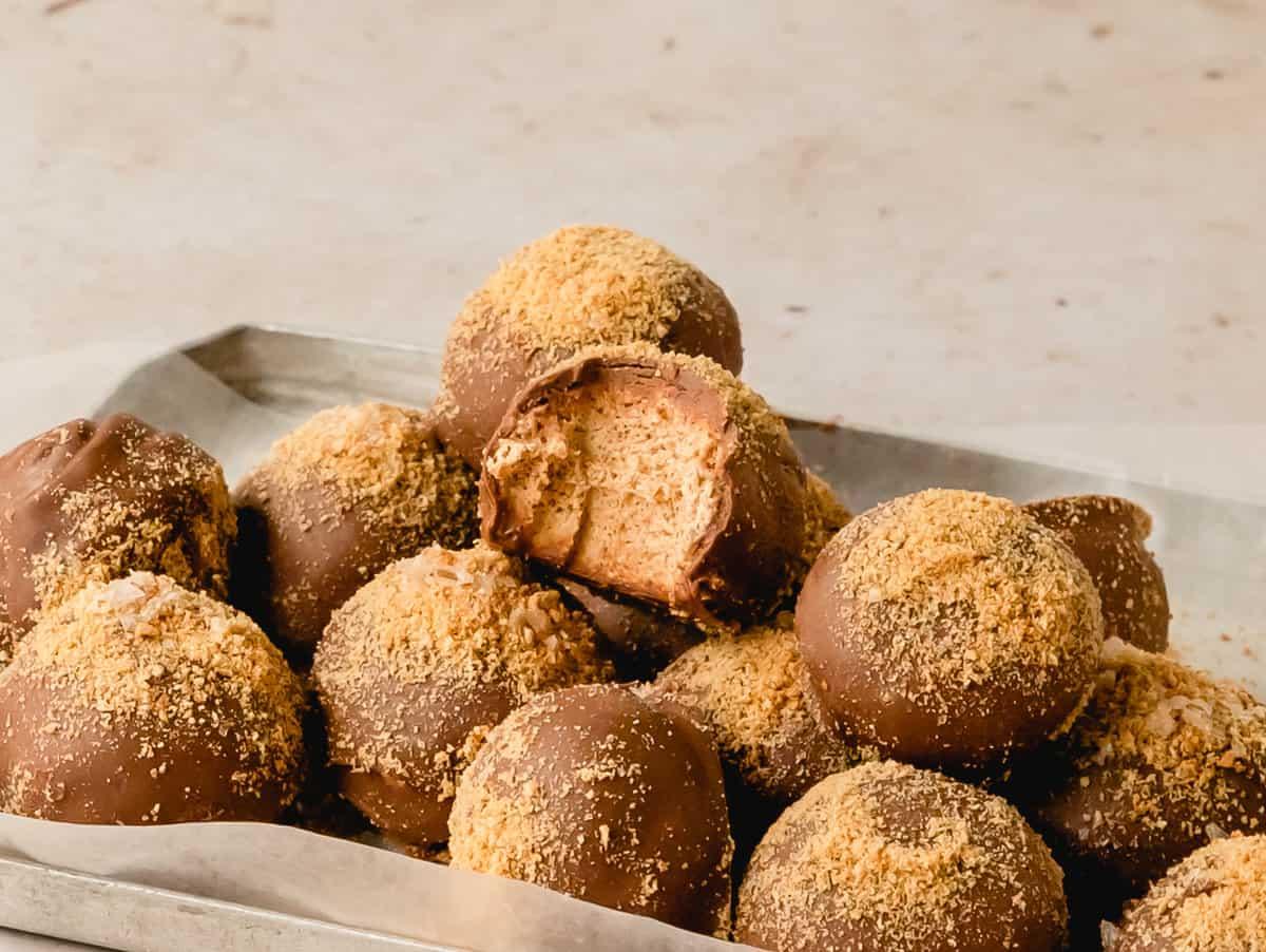 easy s'mores truffles