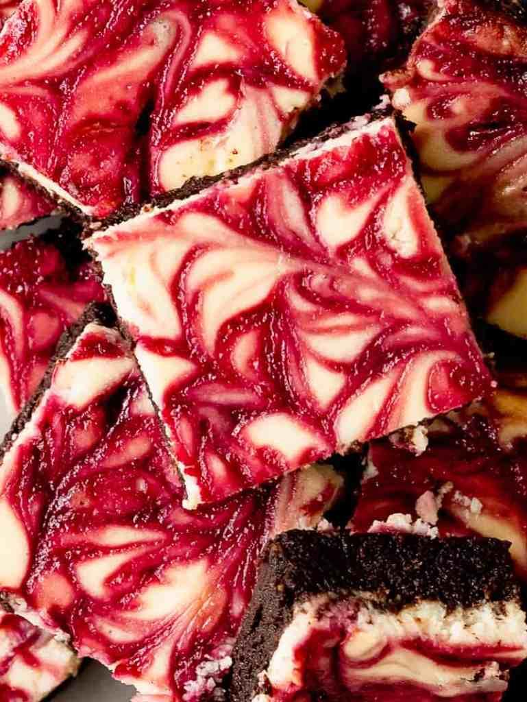 blackberry swirl cheesecake brownies