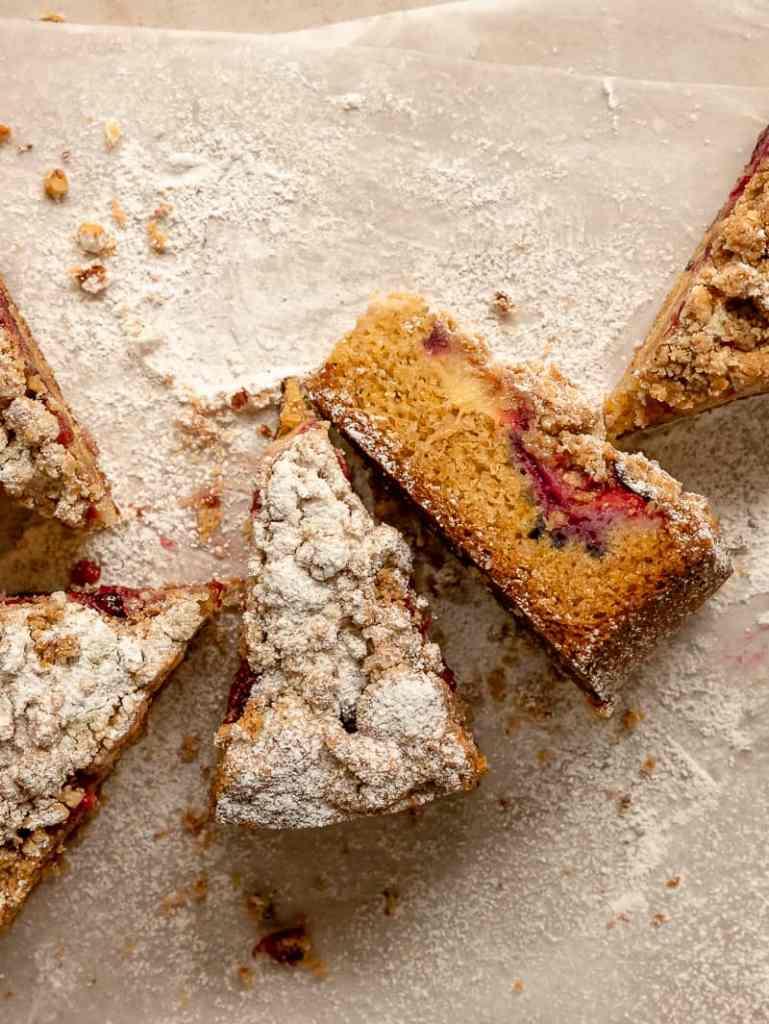 spiced streusel plum cake