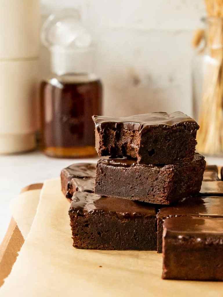 fudgy maple brownies
