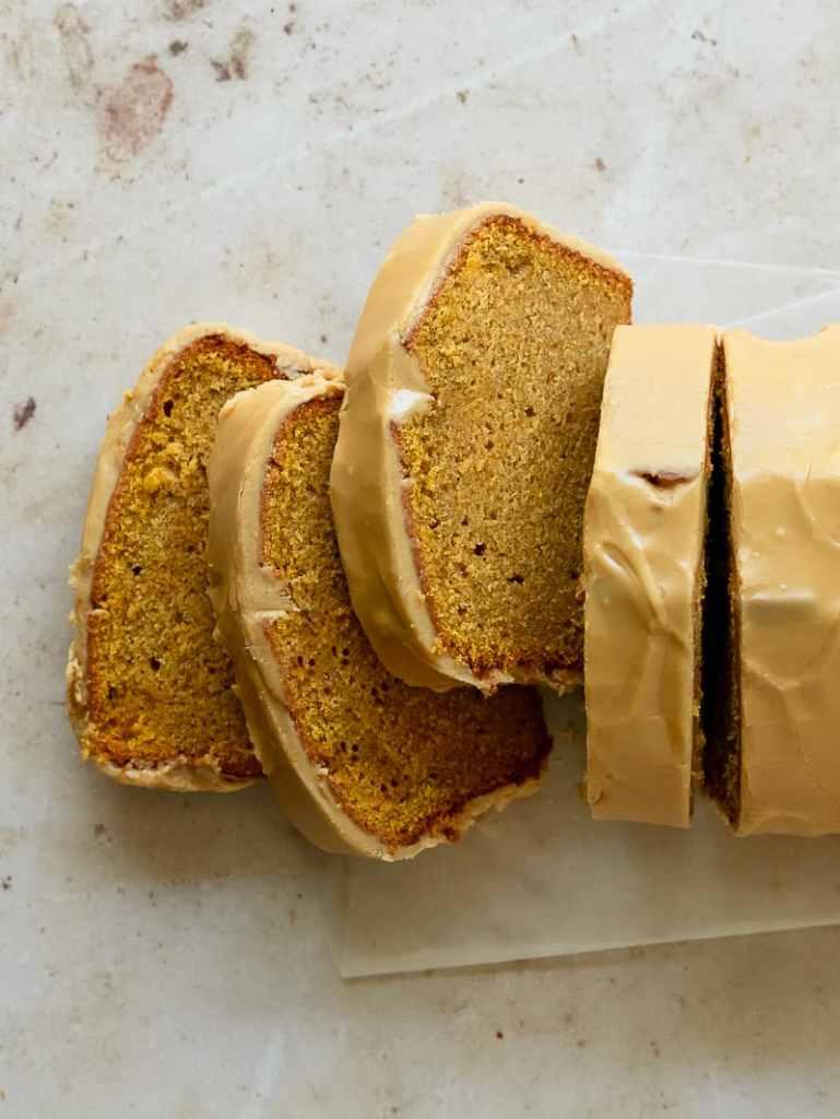 glazed pumpkin pound cake