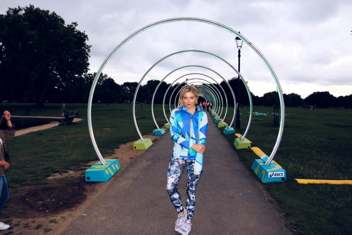 Olivia Cox, asics, run the tube, fitness blogger,