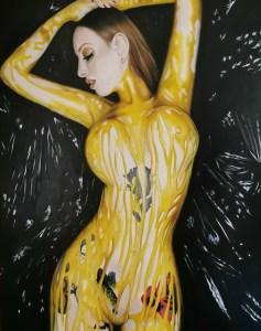 """""""Envidia"""" Óleo sobre lienzo 100x81cm. Olivia Caballero"""