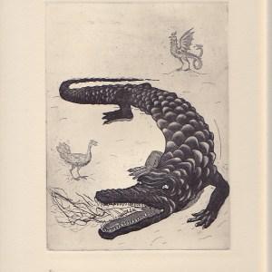 Uriel Marin - Platicadores etching