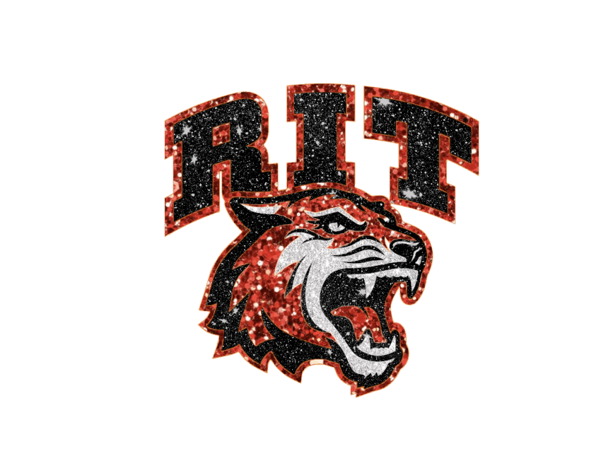 RIT Tiger Logo - Glitter styling done by Olivia Gallucci
