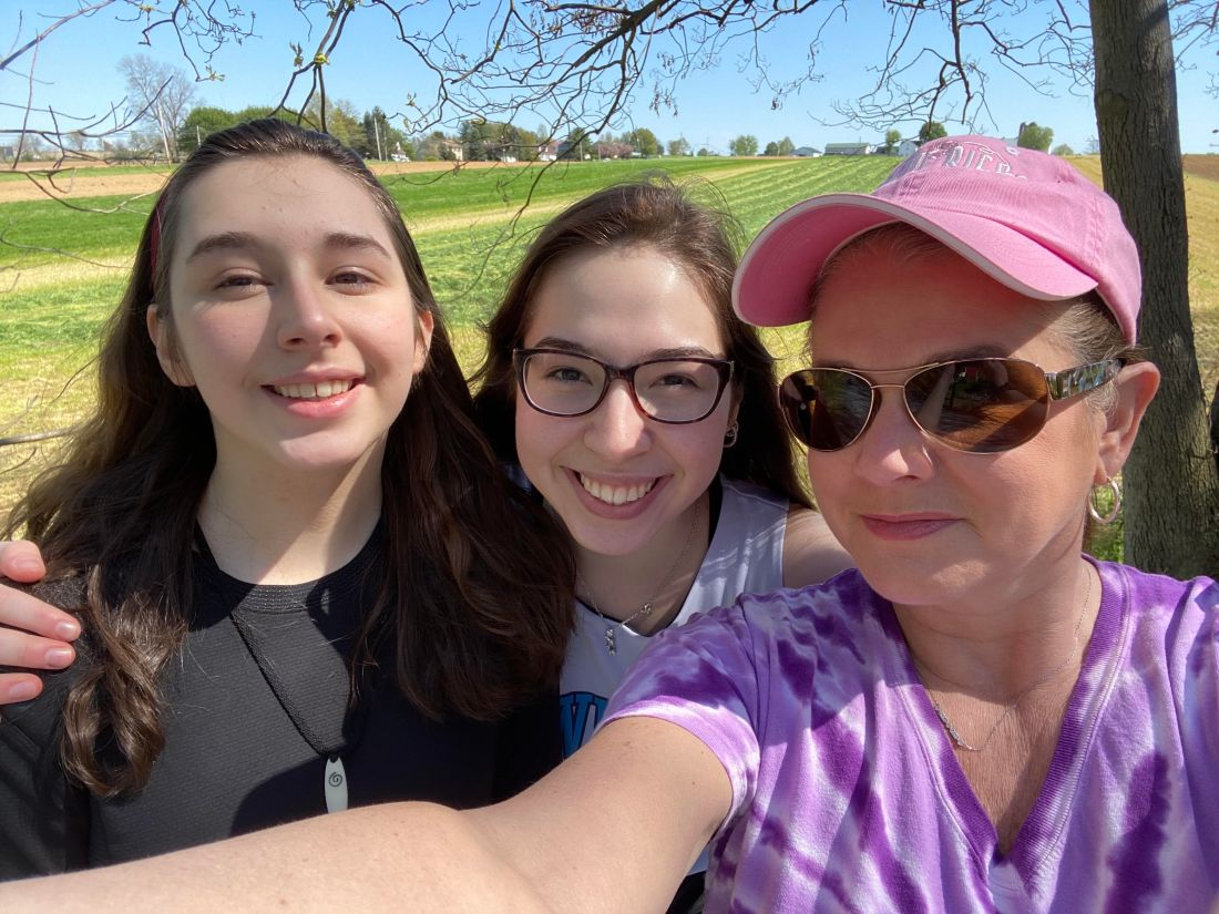 Olivia Gallucci hiking with family