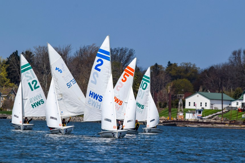 RIT sailing team on the water 1