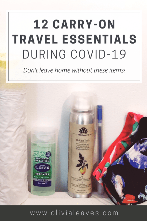 12 Carry-on Travel Essentials during COVID-19