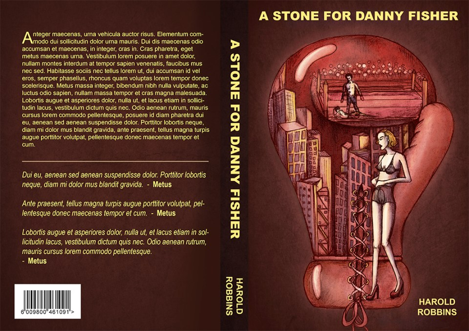 Book cover design, a stone for Danny fisher
