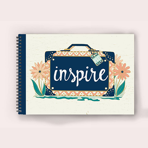 Greetings, notebook design, quote, design by Olivia Linn