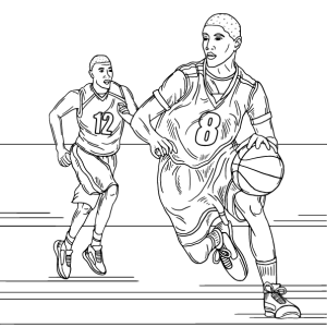 Basketball, coloring page by Olivia Linn