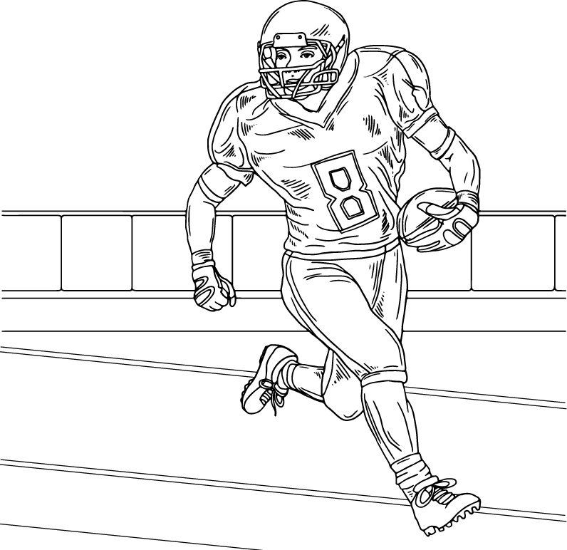 Football, coloring page by Olivia Linn