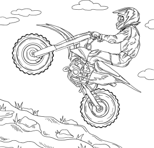 Motorsport, coloring page by Olivia Linn