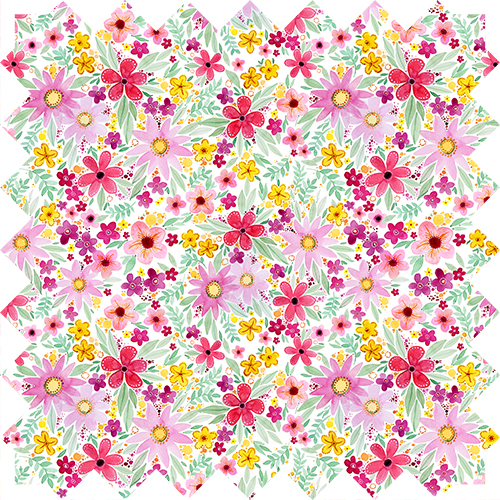Floral Designs, watercolor pattern design by Olivia Linn