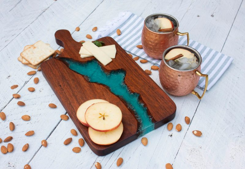 Wood & Resin River Charcuterie Board How To