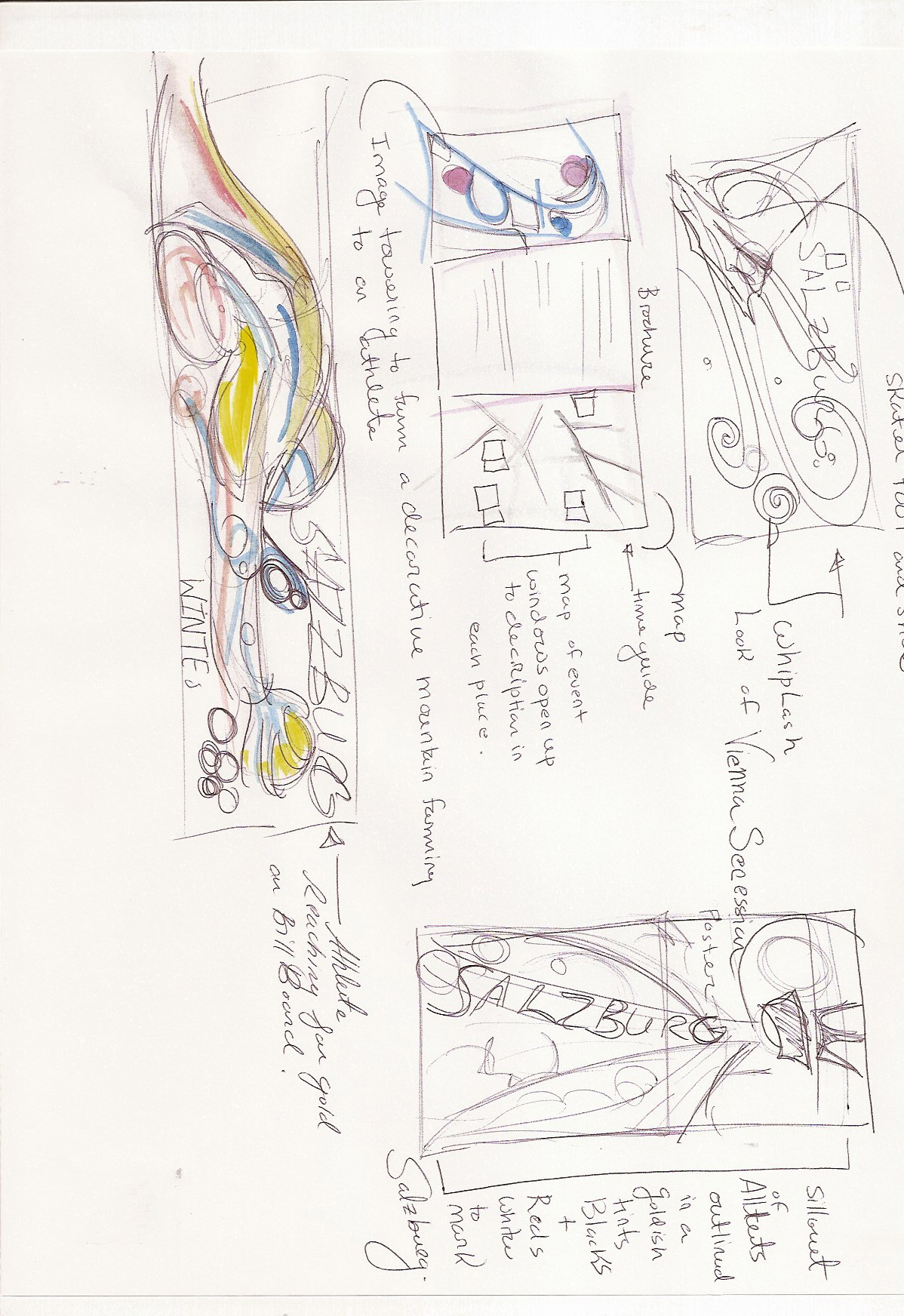 Thumbnails for olympic promotion of the games Salzburg
